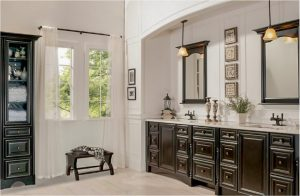 bathroom-cabinets-in- cumming-ga-black-shiny-vanity