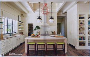 kitchen-cabinets-in-cumming-ga-cream-kitchen-blush-island-lime-seat cushions